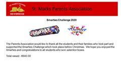 Parents Association Smarties Challenge Thank You